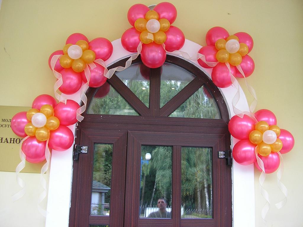 Цветы из шаров для оформления